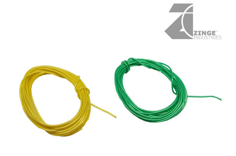 2m Geen and Yellow Thin Wire