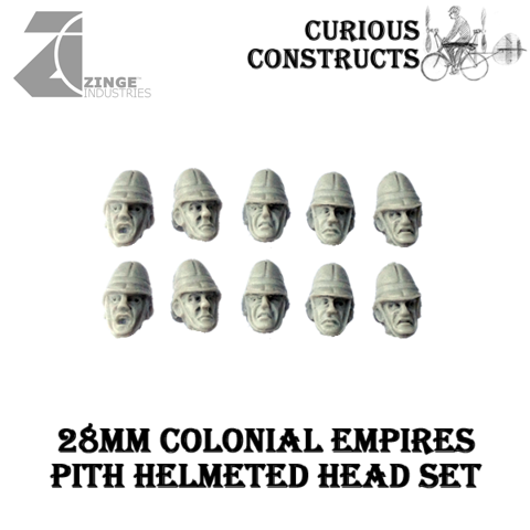 Colonial Empire Artillery Crew - Heads x10 only