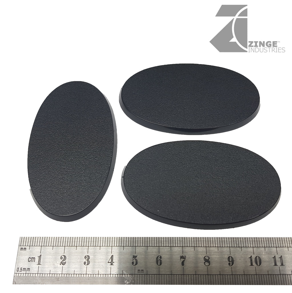 75x42mm Oval Bases Plastic X 3