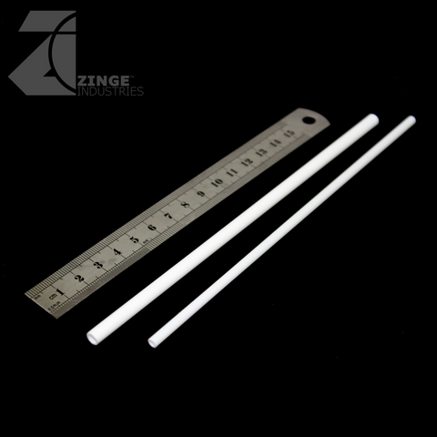 2 X Styrene Tubes 160mm Lengths 5.5mm & 4mm Diameters