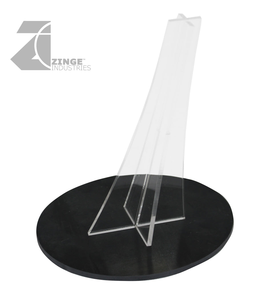 Metal Oval Flying Base and Stand 120mm by 92mm
