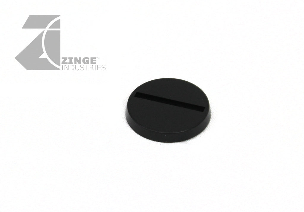 25mm Round Slotted Bases Plastic X 25