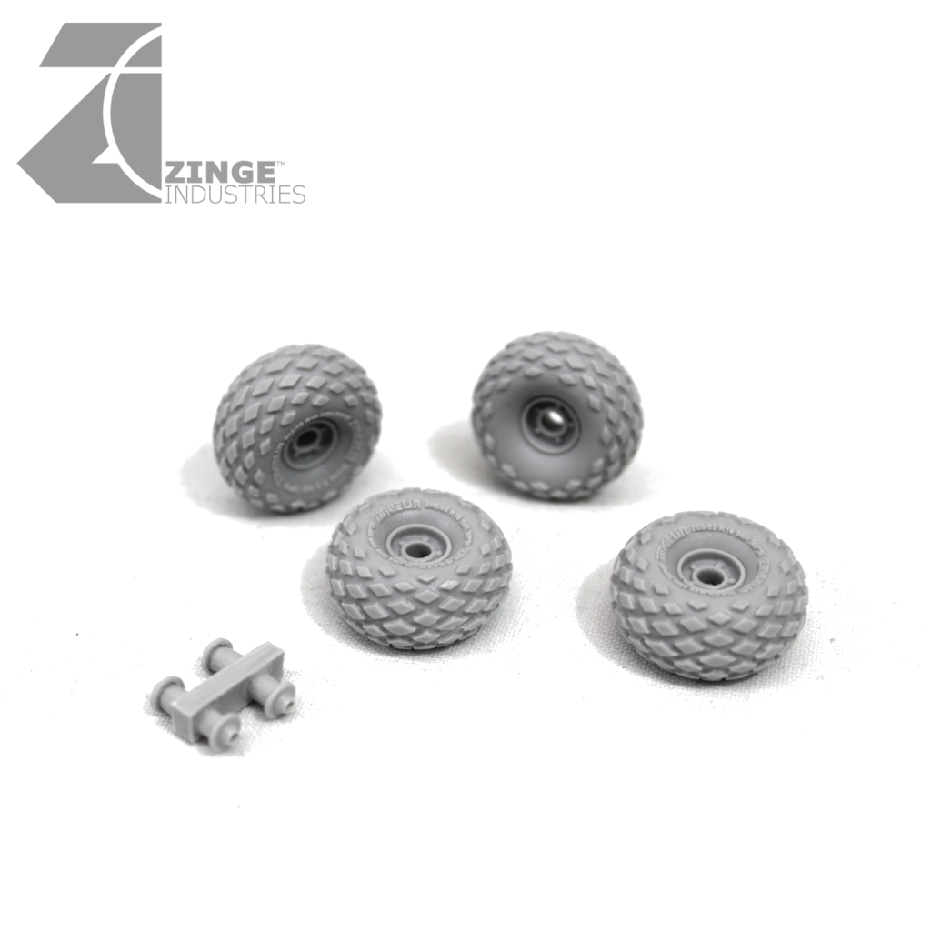 Wheels - 27mm All-Terrain X 4 Sprue