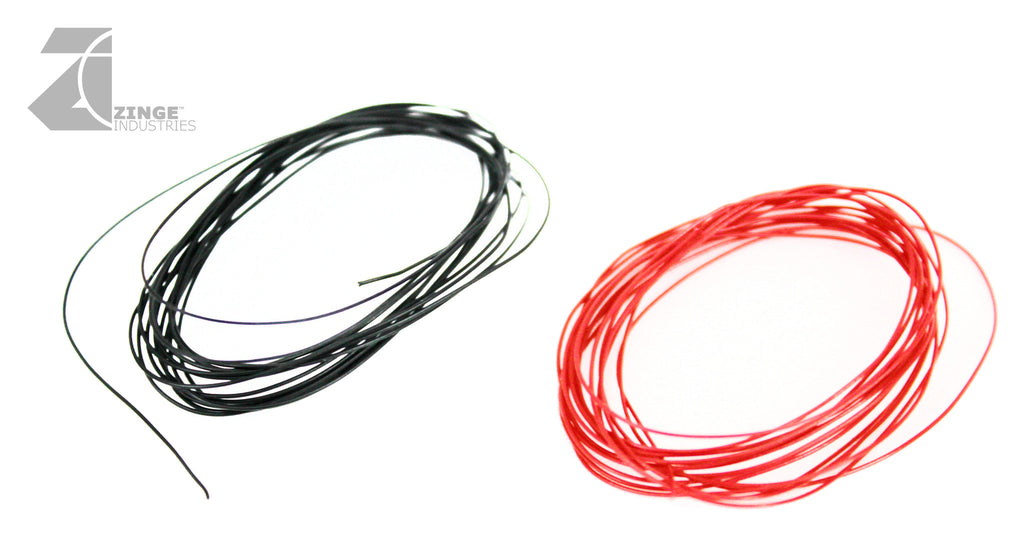 2m Black and Red Thin Wire