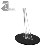Plastic Flying Oval Base and Stand (Base 120mm by 92mm)