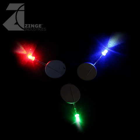 LEDs - Set of 10 - Red / Green / Blue - Flickering