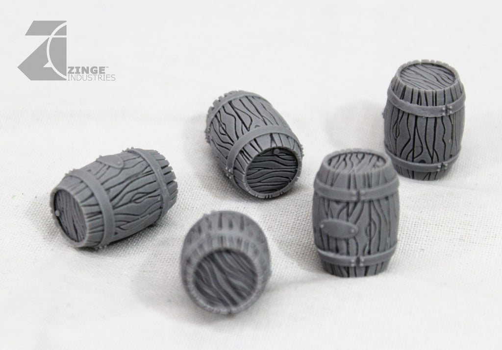 Wooden Barrels - Sprue of 5