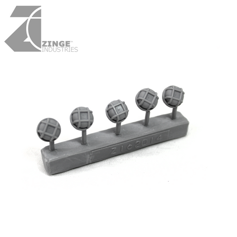 Bulkhead Lights - Sprue of 5 - 10mm Round Bulkhead