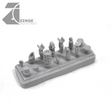 Modular Military Buggy Vehicle Bits Forest Sprue