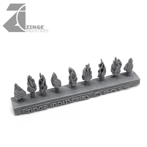 Flames - Sprue of 9 - 3 Designs