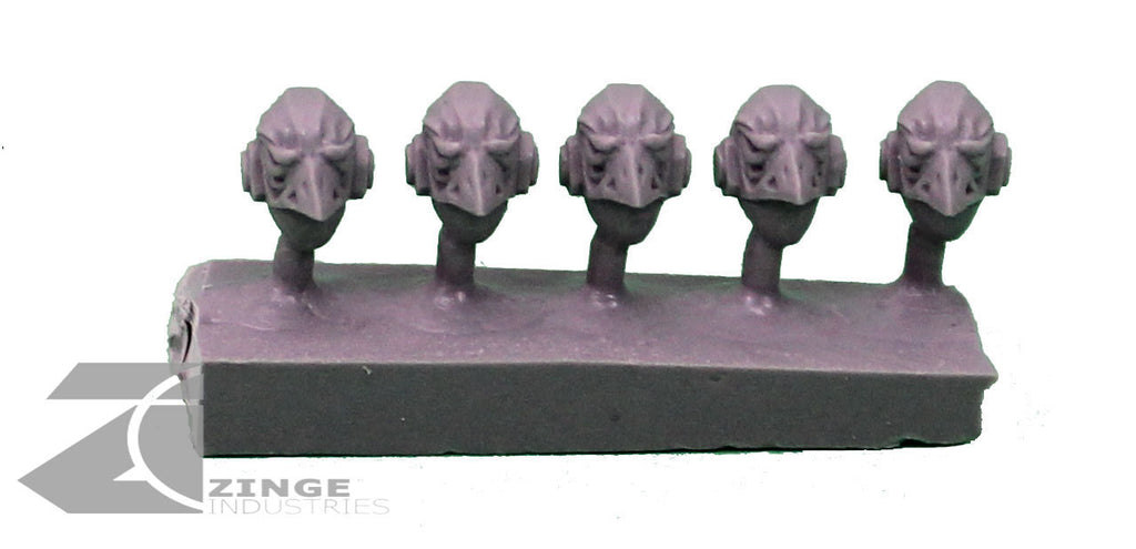 Eagle Skull Helmets / Heads x5 Post Human Scale
