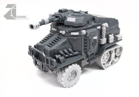 "Half Track APC Vehicle Conversion Kit 2 x Axels, 227mm Wheels, 2xTracks & 2 upgrade ""Forest"" Sprues"