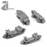 "APC Vehicle Conversion Kit 2 x Axels, 4x 27mm Wheels and 2 Upgrade ""Forest"" Sprues"