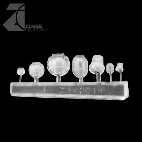 Bulkhead Lights - Sprue of 7 - Various - Transparent Light Diffuser