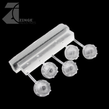 Bulkhead Lights - Sprue of 5 - 15mm Round Bulkhead - Transparent Light Diffuser
