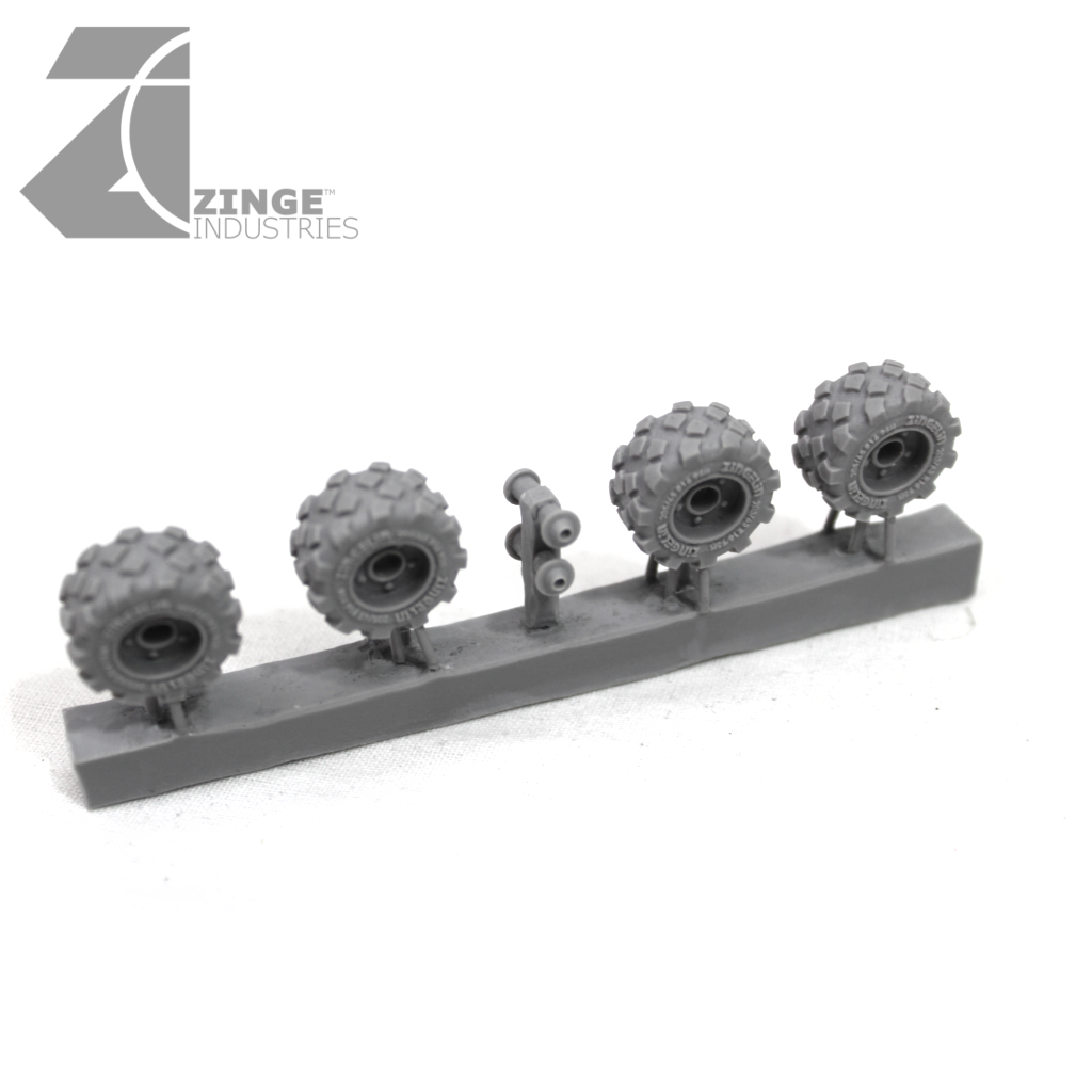 Wheels - 19mm Military Wheel X 4 Sprue