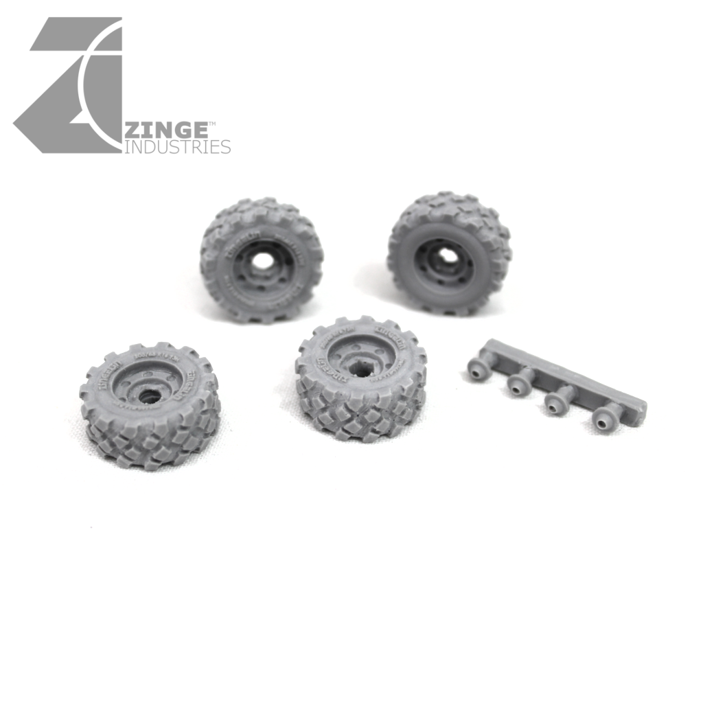 Wheels - 23mm Military Wheel X 4 Sprue