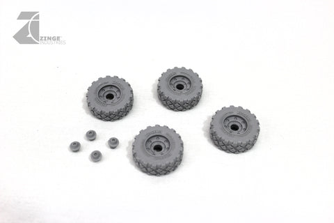 Wheels - 27mm Military Wheel X 4 Sprue