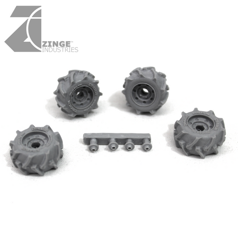 Wheels - 27mm Off Road Wheel X 4 Sprue
