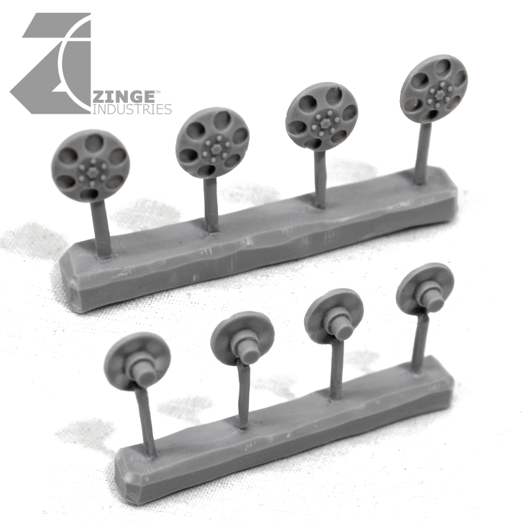 Wheels - Hub Caps for 23mm Off Road or Military Wheel X 4 Sprue