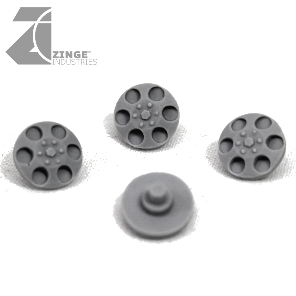 Wheels - Hub Caps for 27mm Off Road Wheel X 4 Sprue