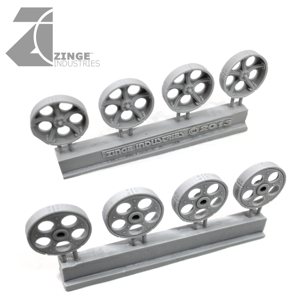 Wheels - 25mm Artillery Wheel X 4 Sprue