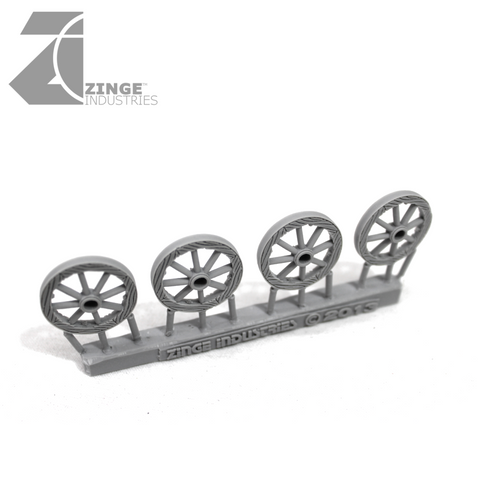 Wheels - 25mm Wooden Wheel X 4 Sprue