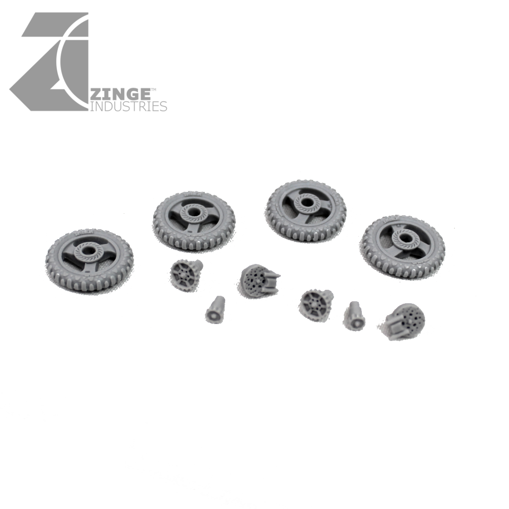 Motorbike Wheels - 4 x 19mm Wheels (Set 1)