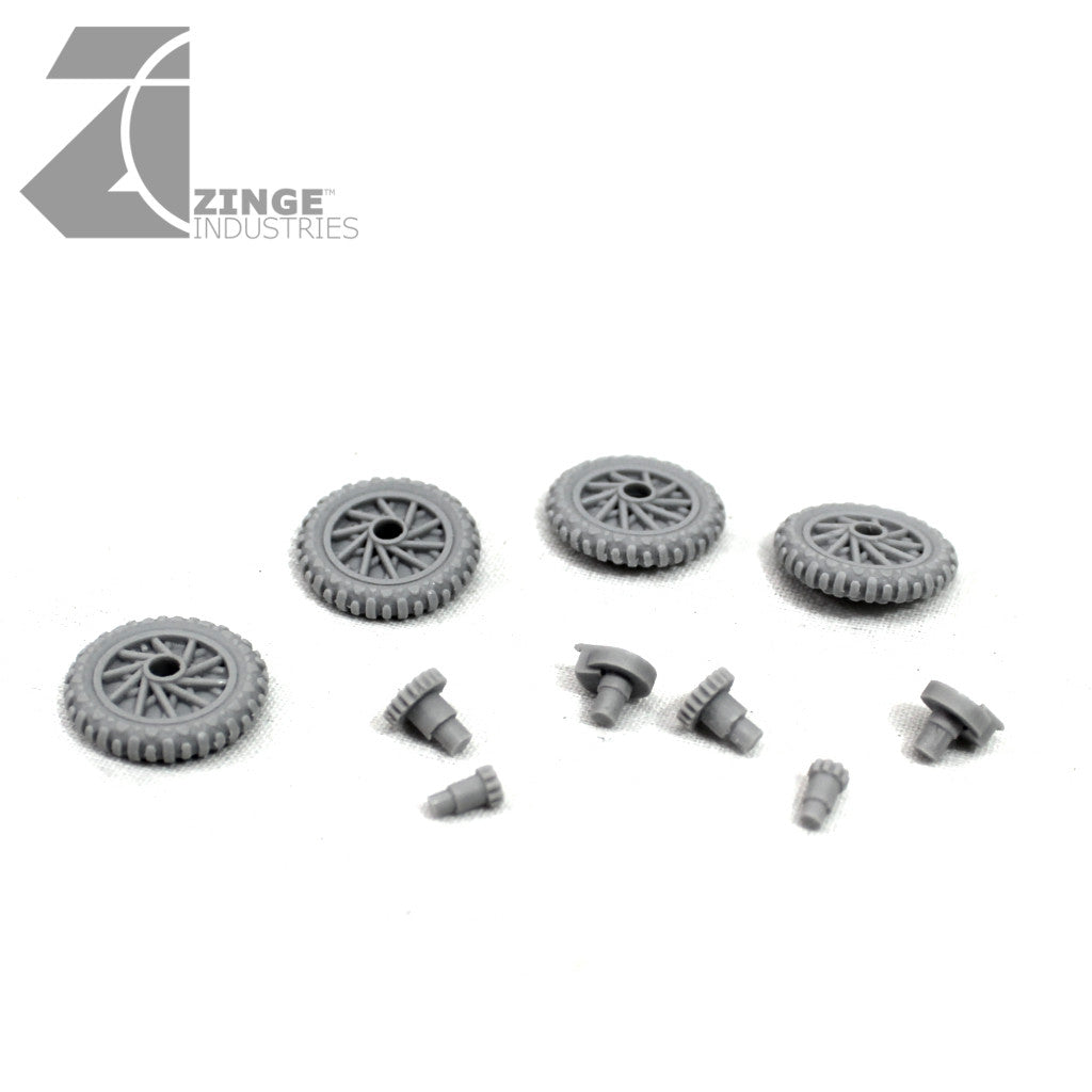 Motorbike Wheels - 4 x 19mm Wheels (Set 2)
