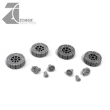 Orc Motorbike 4x Plated Wheels - 19mm Wheels