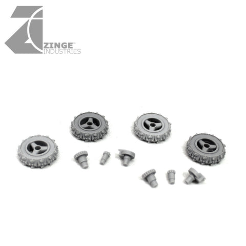 Orc Motorbike 4x Spikes & Teeth Wheels - 19mm Wheels
