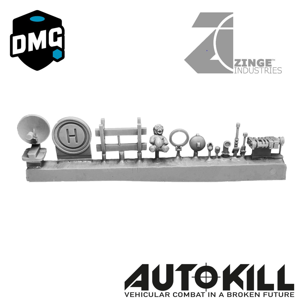 AutoKill - Bear Essentials - (Range of Items, Hatches, Windshield Cannons, Skulls and Others) - 20mm Scale