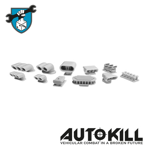 AutoKill - Air Intake Sprue - (Range of Scoops, Catchers, Pipes & Bits) - 20mm Scale