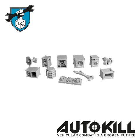 AutoKill - Doof Sprue - (Range of Speakers & Bits) - 20mm Scale