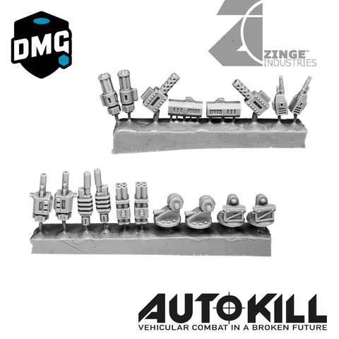 AutoKill - Double Trouble - (Range of Guns, Cannons, Mounts and Others) - 20mm Scale