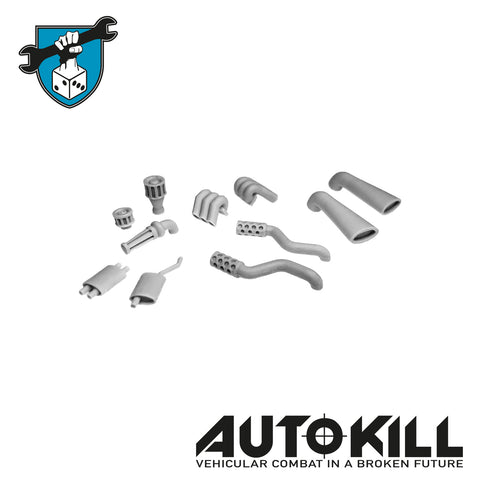 AutoKill - Exhausts Sprue - (Range of Exhausts) - 20mm Scale