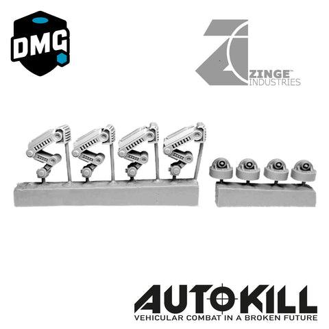 "Legs Designed for AutoKill & Gaslands ""Mecha Move"" - 20mm Scale"