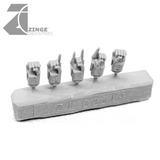 Mechanical Fists Human Size Sprue set of 5