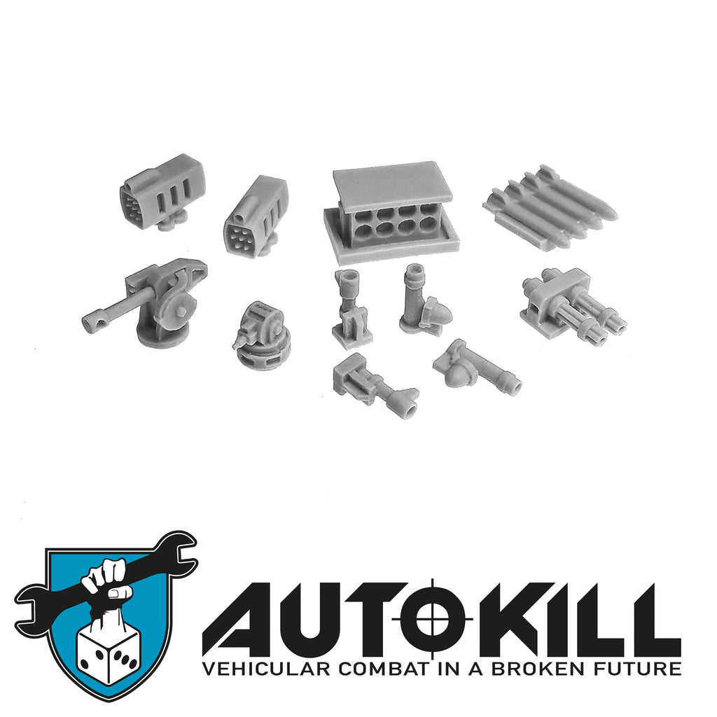 AutoKill - Heat Seeker Sprue - (Range of Cannon, missile pod, turrets) - 20mm Scale