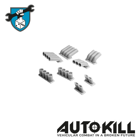 AutoKill - Pipes Forest Sprue - (Range of Exhausts / Pipes) - 20mm Scale