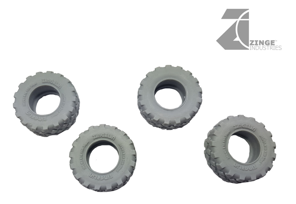 Tyres - 27mm Military Tyre X 4 Sprue