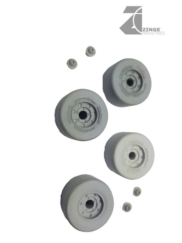 Wheels - 27mm Wide Slick Wheels X 4 Sprue