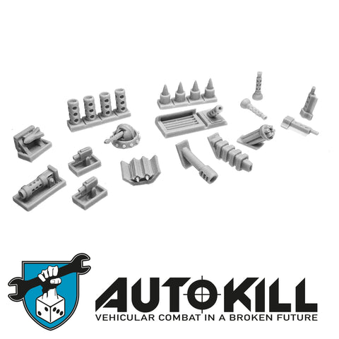 AutoKill - Secret Agent - (Range of windshield guns, machine guns and others) - 20mm Scale