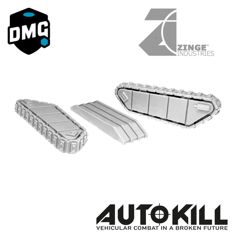 "Closed Tank Tracks Designed for AutoKill & Gaslands ""Tanked Up"" - 20mm Scale"