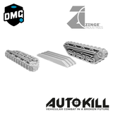 "Open Tank Tracks Designed for AutoKill & Gaslands ""Tread Head"" - 20mm Scale"