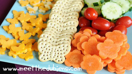 Cheese fruit and veg