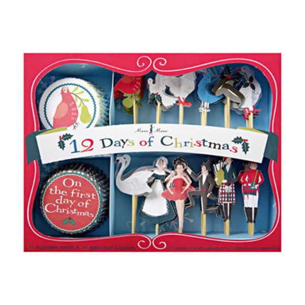 Meri Meri 12 Days of Christmas Cupcake Kit