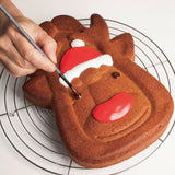 Christmas Rudolph Reindeer Large Cake Mould