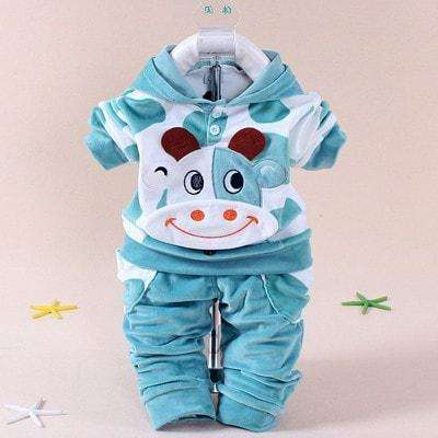 Baby Boys Girls Velvet Children Clothing Set Christmas Costume