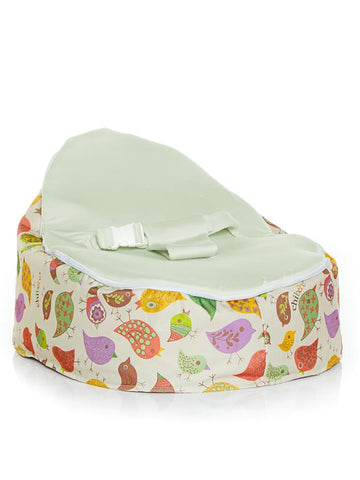 Chibebe Chirpy Style Baby Bean Bag with Green Baby Seat